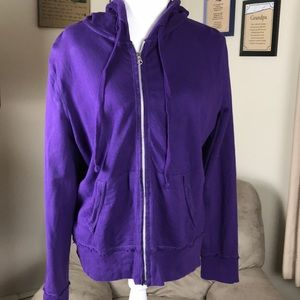 Mossimo full zip hooded top..purple..XXL